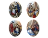 Porcelain Paintings #2907 18x13mm 4 Scenes (12 Pieces) - CLEARANCE
