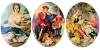 Porcelain Paintings #361 18x13mm 3 Scenes (12 Pieces) - CLEARANCE