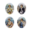 Porcelain Paintings #3751 18x13mm 4 Scenes (12 Pieces) - CLEARANCE