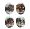 Porcelain Paintings #4487 25x18mm 4 Scenes (12 Pieces) - CLEARANCE