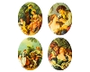 Porcelain Paintings #449 18x13mm 4 Scenes (12 Pieces) - CLEARANCE
