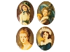 Porcelain Paintings #450 18x13mm 4 Scenes (12 Pieces) - CLEARANCE