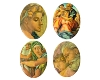 Porcelain Paintings #459 18x13mm 4 Scenes (12 Pieces) - CLEARANCE