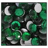 Machine Pressed Flatback Rhinestones #5015 SS12 Emerald (1,440 Pieces)  - CLEARANCE