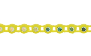 Preciosa Rhinestone Plastic Banding 1 Row SS8 Lemon Yellow/Crystal AB (10 Meters)