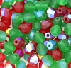 Round Fire Polished Bead #3150MX 6mm Christmas Sparkle AB Mix (LOOSE) (1,200 Pieces)