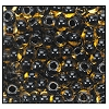 Seed Bead #2100 6/0 10024 Beige Transparent Black Lined (1/2 Kilo) - CLEARANCE