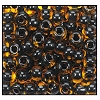 Seed Bead #2100 11/0 10054 Topaz Transparent Black Lined (1/2 Kilo) - CLEARANCE