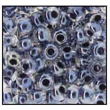 Seed Bead #2100 6/0 38649 Crystal Transparent Black Lined (1/2 Kilo)