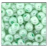 Seed Bead #2100 6/0 37152 Light Green White Opaque Ceylon (1/2 Kilo) - CLEARANCE