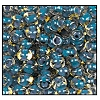 Seed Bead #2100 6/0 11022 Topaz Transparent/Blue Lined (1/2 Kilo)