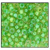 Seed Bead #2100 11/0 14025 Beige Transparent Green Lined Iris (1/2 Kilo) - CLEARANCE