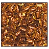 Seed Bead #2100 6/0 19020 Beige Transparent Copper Lined (1/2 Kilo)
