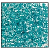 Seed Bead #2100 6/0 38658 Crystal/Teal Lined (1/2 Kilo)
