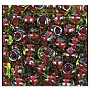 Seed Bead #2100 6/0 51228 Peridot Transparent/Red Lined (1/2 Kilo) - CLEARANCE