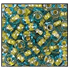 Seed Bead #2100 6/0 61017 Aqua Transparent/Yellow Lined (1/2 Kilo) - CLEARANCE