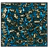 Seed Bead #2100 6/0 69010 Aqua Transparent Copper Lined (1/2 Kilo)