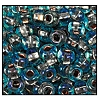 Seed Bead #2100 6/0 69019 Aqua Transparent Copper Lined Iris (1/2 Kilo) - CLEARANCE