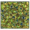Seed Bead #2100 6/0 81014 Citrine Transparent/Dark Blue Lined (1/2 Kilo)