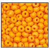 Seed Bead #2100 6/0 94110M Light Orange Opaque Matt Iris (1/2 Kilo) - CLEARANCE
