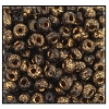Seed Bead #2100 6/0 Z239B Black Gold Metallic Dust (1/2 Kilo)