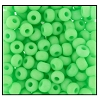 Seed Bead #2100 6/0 36756 Neon Green Matt (1/2 Kilo) - CLEARANCE
