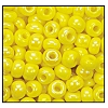 Seed Bead #2100 11/0 84110 Yellow Opaque Iris (1/2 Kilo) - CLEARANCE