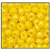 Seed Bead #2100 6/0 84130 Dark Yellow Opaque Iris (1/2 Kilo) - CLEARANCE