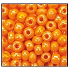 Seed Bead #2100 6/0 94110 Light Orange Opaque Iris (1/2 Kilo) - CLEARANCE