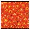 Seed Bead #2100 6/0 94140 Orange Opaque Iris (1/2 Kilo)