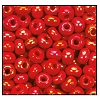 Seed Bead #2100 6/0 94170 Light Red Opaque Iris (1/2 Kilo) - CLEARANCE
