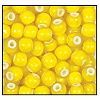 Seed Bead #2100 6/0 83701 Yellow Opaque White Lined (1/2 Kilo) - CLEARANCE
