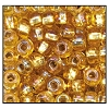 Rocailles #2150 11/0 Round Hole 17029 Light Topaz Transparent Iris S/L (1/2 Kilo)  - CLEARANCE