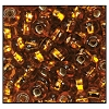 Rocailles #2155 10/0 Square Hole 17090 Dark Gold Transparent S/L (1/2 Kilo) (LOOSE) - CLEARANCE