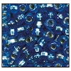 Rocailles #2150 11/0 Round Hole 37039 Light Sapphire Transparent Iris S/L (1/2 Kilo)  - CLEARANCE