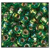 Rocailles #2150 11/0 Round Hole 57109 Light Green Transparent Iris S/L (1/2 Kilo)  - CLEARANCE