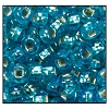Rocailles #2150 11/0 Round Hole 67019 Light Aqua Transparent Iris S/L (1/2 Kilo)  - CLEARANCE