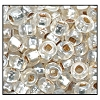 Rocailles #2155 10/0 Square Hole 78109 Crystal Transparent Iris S/L (1/2 Kilo) (LOOSE) - CLEARANCE