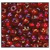 Rocailles #2150 11/0 Round Hole 97099 Dark Red Transparent Iris S/L (1/2 Kilo)  - CLEARANCE