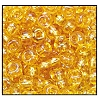 Seed Bead #2100 6/0 11020 Light Topaz Transparent Iris (1/2 Kilo)