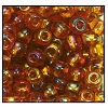 Seed Bead #2100 11/0 11090 Dark Topaz Transparent Iris (1/2 Kilo) - CLEARANCE