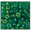 Seed Bead #2100 6/0 51120 Green Transparent Iris (1/2 Kilo) - CLEARANCE