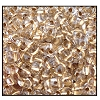 Twin Bead #2700 2.5x5mm 68106 Crystal Gold Lined (1/2 Kilo)