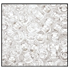 Seed Bead #2100 6/0 38602 Crystal Transparent White Lined (1/2 Kilo)