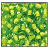 Seed Bead #2100 6/0 55226 Lime Transparent White Lined (1/2 Kilo) - CLEARANCE