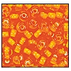 Seed Bead #2100 6/0 95006 Orange Transparent White Lined (1/2 Kilo)