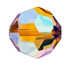 Swarovski 5000 Round Bead 4mm Light Topaz Shimmer