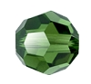 Swarovski 5000 Round Bead 10mm Dark Moss Green