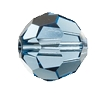 Swarovski 5000 Round Bead 10mm Denim Blue