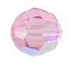 Swarovski 5000 Round Bead 4mm Light Rose AB